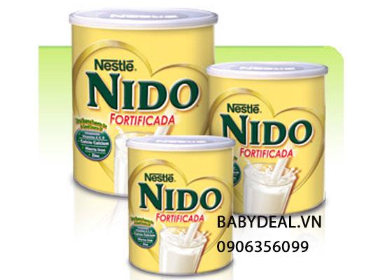 Sữa tươi dạng bột nguyên kem Nido Fortificada dành cho bé trên 1 tuổi nhập khẩu từ Mỹ