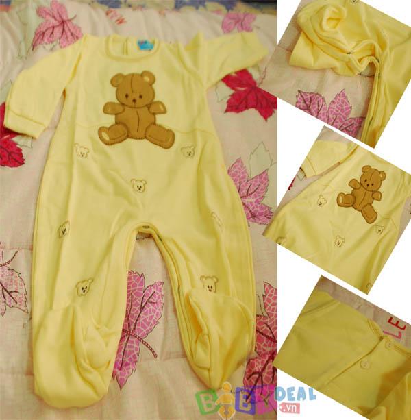 combo áo Liền quần Gấu cho bé, shop mẹ và bé, giá rẻ tại tp hcm