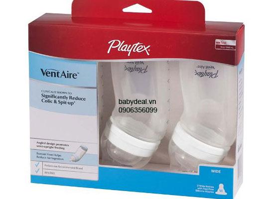 Bình Sữa Cổ Rộng Playtex - Set 3 bình cho bé, shop mẹ và bé, giá rẻ tại tp hcm