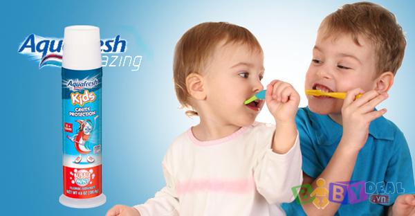 Kem Đánh Răng Aquafresh cho bé, shop mẹ và bé, giá rẻ tại tp hcm