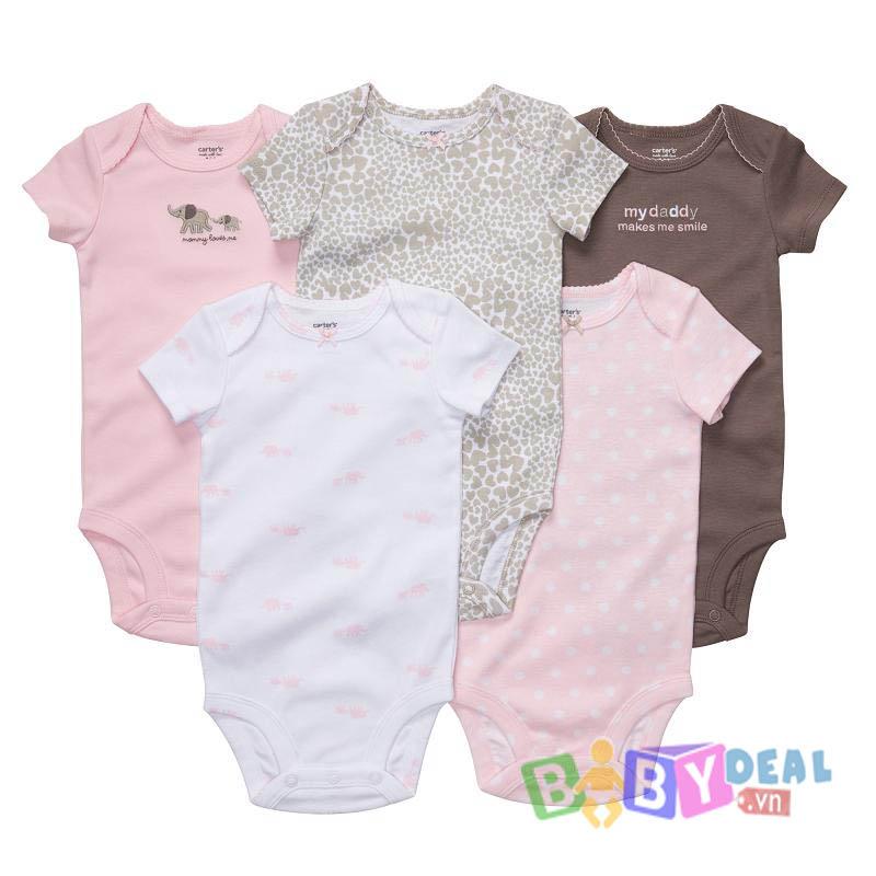 Set 5 áo Body cho bé, shop mẹ và bé, giá rẻ tại tp hcm