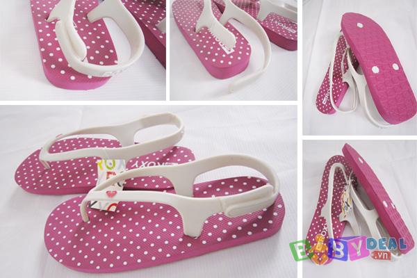Giày xỏ ngón ROXY cho bé, shop mẹ và bé, giá rẻ tại tp hcm