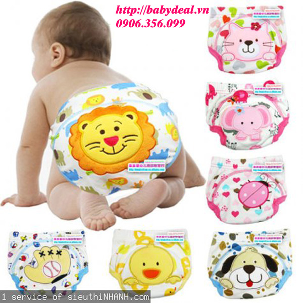 Quần Mông Thú Chống Thấm- Set 2 Cái cho bé, shop mẹ và bé, giá rẻ tại tp hcm