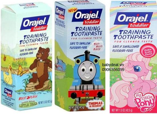 Kem đánh răng nuốt được Orajel