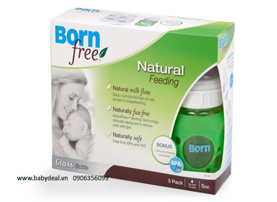 Bình sữa BornFree Thủy Tinh 260ml hoặc 150ml