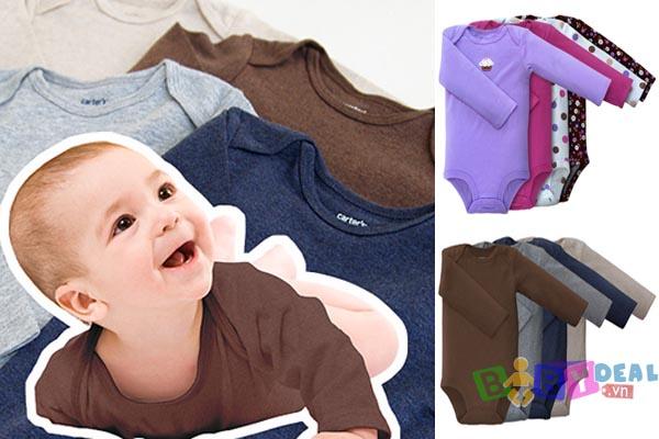 Set 5 Áo Body Tay Dài cho bé, shop mẹ và bé, giá rẻ tại tp hcm