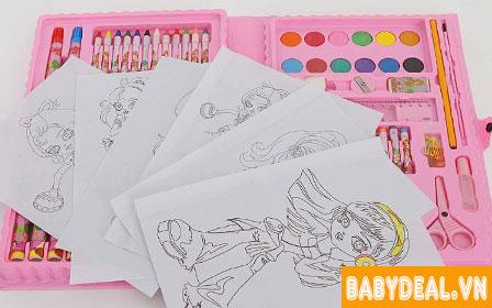 Hộp Bút Chì Màu 96 Món cho bé, shop mẹ và bé, giá rẻ tại tp hcm