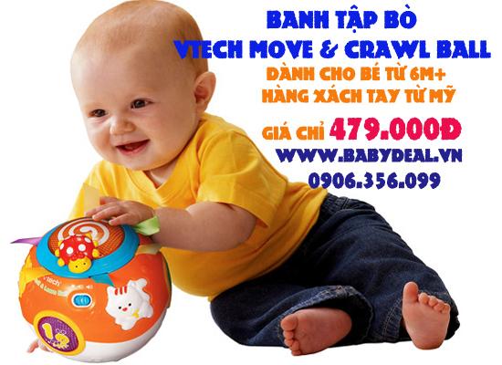 Vtech Move & Crawl Ball cho bé, shop mẹ và bé, giá rẻ tại tp hcm