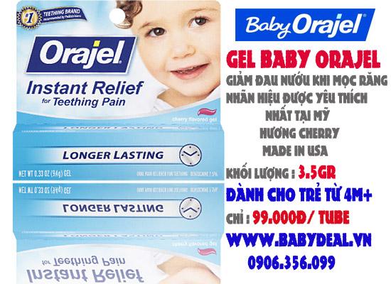 Gel Baby Orajel (USA) cho bé, shop mẹ và bé, giá rẻ tại tp hcm