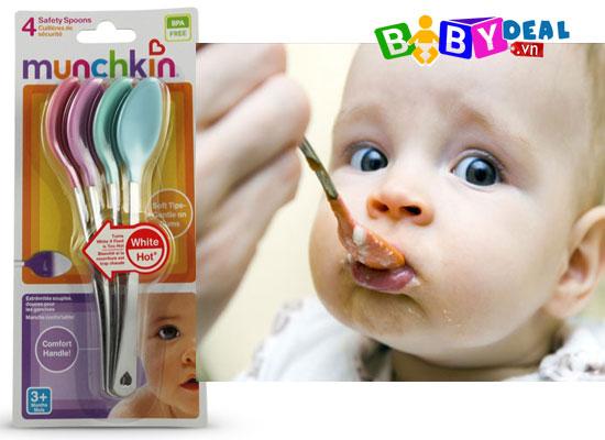 Muỗng báo nóng Munchkin cho bé, shop mẹ và bé, giá rẻ tại tp hcm