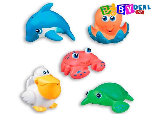 Bộ đồ chơi phun nước 5 sinh vật biển Munchkin cho bé, shop mẹ và bé, giá rẻ tại tp hcm