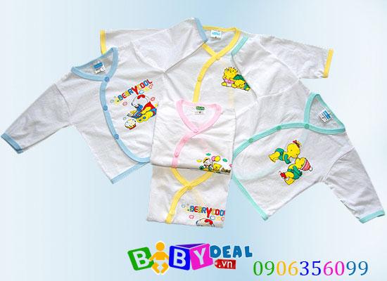 Combo 5 áo sơ sinh tay dài cho bé, shop mẹ và bé, giá rẻ tại tp hcm