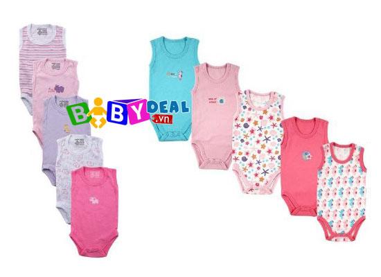 Set 5 Áo Body Sát Nách cho bé, shop mẹ và bé, giá rẻ tại tp hcm