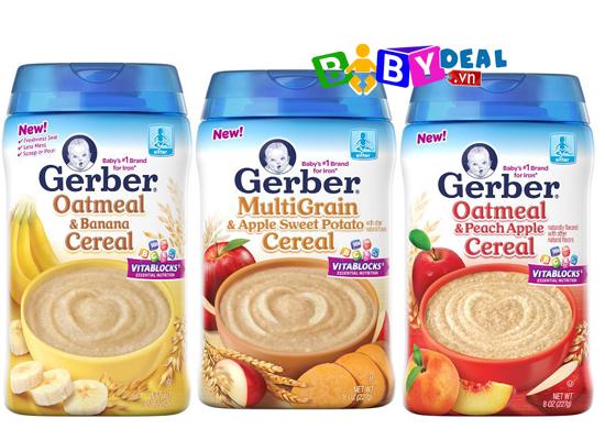 Bột Ăn Dặm Gerber cho bé, shop mẹ và bé, giá rẻ tại tp hcm
