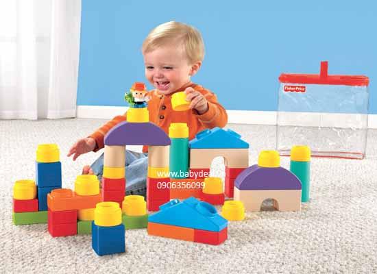 Đồ Chơi Xếp Hình Fisher Price Little People Little People Classic Shape Blocks cho bé, shop mẹ và bé, giá rẻ tại tp hcm