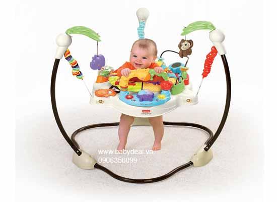 Ghế Nhảy Fisher-Price Luv U Zoo Jumperoo cho bé, shop mẹ và bé, giá rẻ tại tp hcm