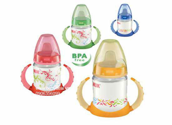 Bình Tập Uống Nuk 150ml cho bé, shop mẹ và bé, giá rẻ tại tp hcm