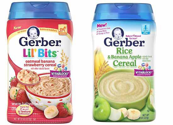 Bột Ăm Dặm Gerber Mùi Trái Cây cho bé, shop mẹ và bé, giá rẻ tại tp hcm