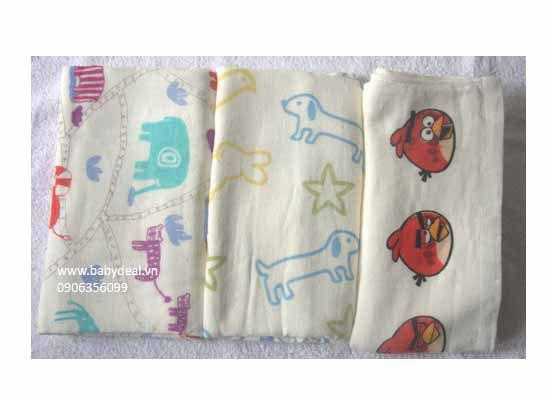 Set 2 Cái Khăn Tắm 2 Mặt (Thái Lan) cho bé, shop mẹ và bé, giá rẻ tại tp hcm