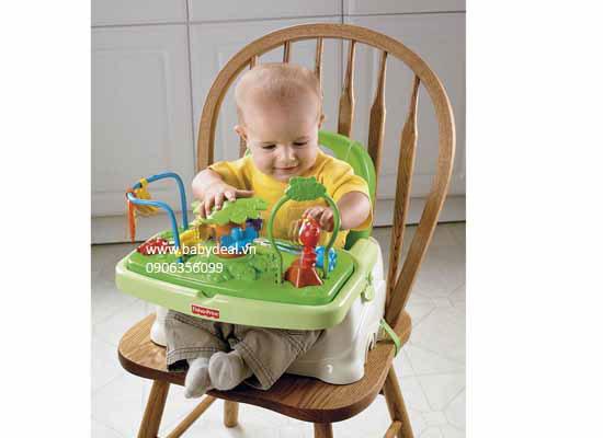Ghế Ăn Fisher Price Rainforest Healthy Care Booster Seat cho bé, shop mẹ và bé, giá rẻ tại tp hcm