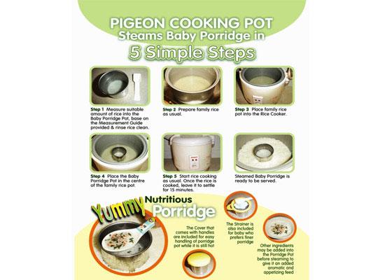 Cốc Nấu Cháo Pigeon cho bé, shop mẹ và bé, giá rẻ tại tp hcm