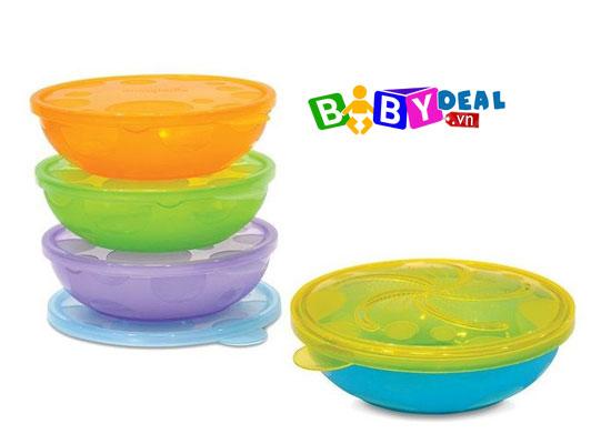 Set 3 Chén Ăn Chống Trượt Munchkin cho bé, shop mẹ và bé, giá rẻ tại tp hcm
