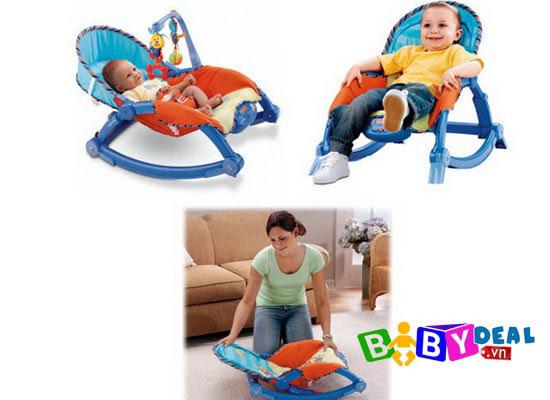 Ghế Rung Fisher Price P0107 cho bé, shop mẹ và bé, giá rẻ tại tp hcm