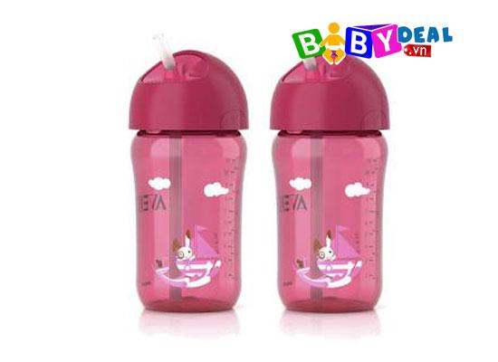 Bình nước có ống hút Avent 300ml cho bé, shop mẹ và bé, giá rẻ tại tp hcm