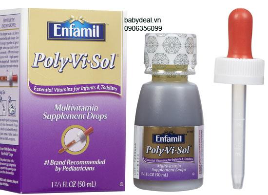 Bổ sung vitamins và khoáng chất Enfamil Poly Vi Sol cho bé, shop mẹ và bé, giá rẻ tại tp hcm