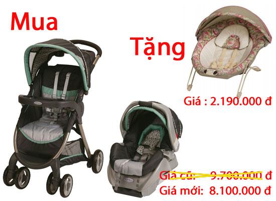 Quà Tặng Đặc Biệt Khi Mua Xe Đẩy Graco Fast Action Fold cho bé, shop mẹ và bé, giá rẻ tại tp hcm