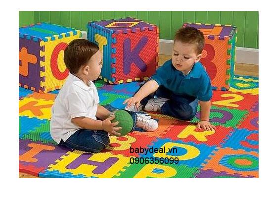 Set 26 Miếng Thảm Xốp Chữ Cái A-Z cho bé, shop mẹ và bé, giá rẻ tại tp hcm
