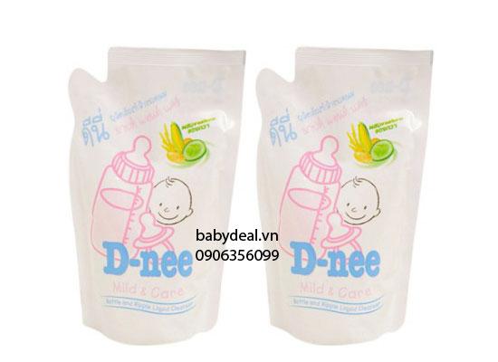 Set 2 Bịch Nước Rửa Bình Sữa Dnee cho bé, shop mẹ và bé, giá rẻ tại tp hcm