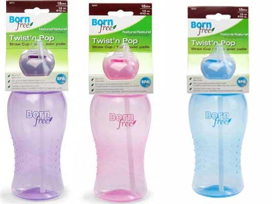 Bình Nước Ống Hút Bornfree 410ml cho bé, shop mẹ và bé, giá rẻ tại tp hcm