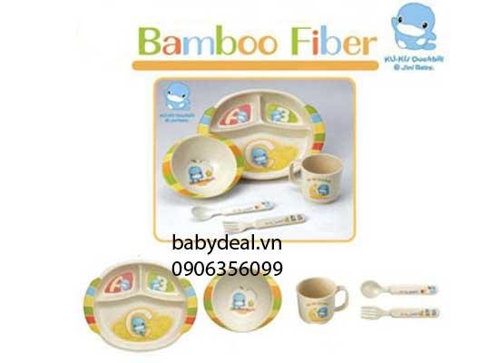 Bộ Chén Ăn Cho Bé Bằng Tre Kuku cho bé, shop mẹ và bé, giá rẻ tại tp hcm