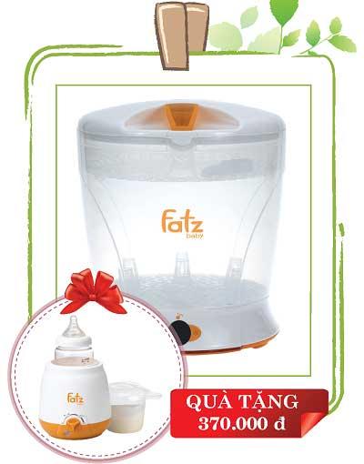 Máy tiệt trùng bình sữa Fatz 2 trong 1 FB4002SB cho bé, shop mẹ và bé, giá rẻ tại tp hcm
