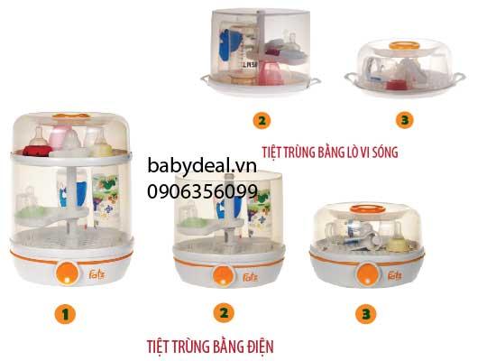 Máy Tiệt Trùng Đa Năng Fatz 2 trong 1 FB4005SB cho bé, shop mẹ và bé, giá rẻ tại tp hcm