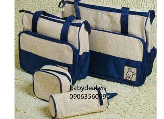 Túi Xách Cho Mẹ và Bé Chấm Bi 5 Chi Tiết cho bé, shop mẹ và bé, giá rẻ tại tp hcm