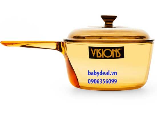 Nồi Thuỷ Tinh Visions VSP-1.0 cho bé, shop mẹ và bé, giá rẻ tại tp hcm