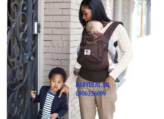 Địu Ergo Baby Organic (Ergo Organic Baby Carrier) cho bé, shop mẹ và bé, giá rẻ tại tp hcm