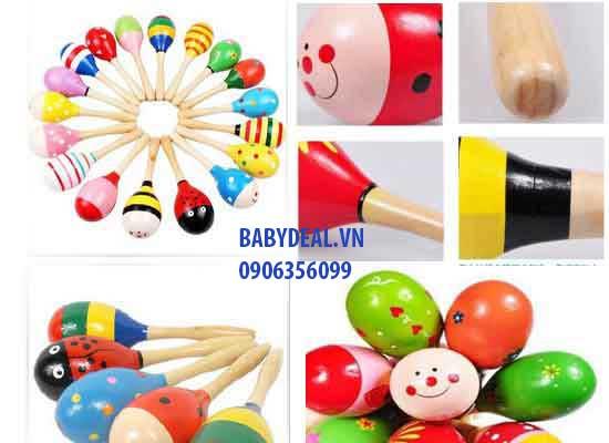 Lục Lạc Gỗ cho bé, shop mẹ và bé, giá rẻ tại tp hcm