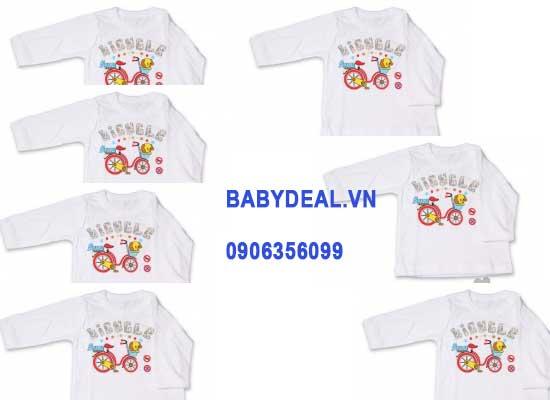 Áo Cổ Viền Bo Hello B&B Tay Dài – Size 5-6, set 3 cái cho bé, shop mẹ và bé, giá rẻ tại tp hcm