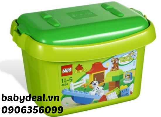 Thùng Gạch  LEGO DUPLO 4624 Brick Box cho bé, shop mẹ và bé, giá rẻ tại tp hcm