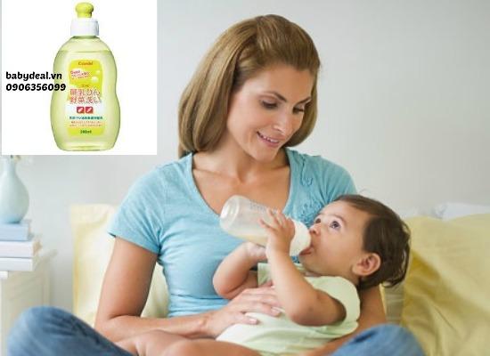 Nước rửa bình sữa Combi cho bé, shop mẹ và bé, giá rẻ tại tp hcm