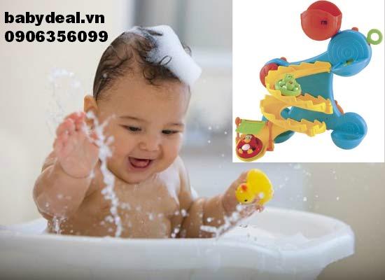 Đồ chơi tắm Cầu trượt nước chim cánh cụt cho bé, shop mẹ và bé, giá rẻ tại tp hcm