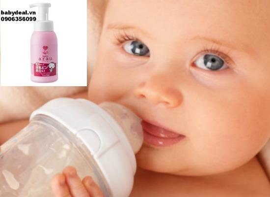 Nước rửa bình sữa Arau baby 300ml cho bé, shop mẹ và bé, giá rẻ tại tp hcm