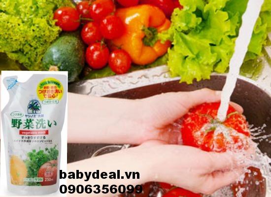 Nước rửa rau quả Yashinomi dạng túi 250ml cho bé, shop mẹ và bé, giá rẻ tại tp hcm