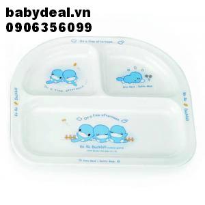 Khay ăn 3 ngăn KuKu Ku3003 cho bé, shop mẹ và bé, giá rẻ tại tp hcm