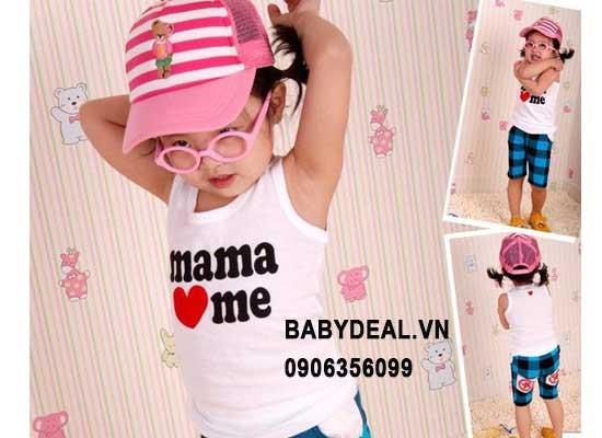 Set 2 Áo Mama/Papa Love Me cho bé, shop mẹ và bé, giá rẻ tại tp hcm