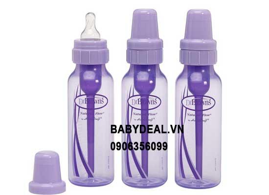 Bình Sữa Dr. Brown's Màu Tím 240ml - 1 Bìnhh cho bé, shop mẹ và bé, giá rẻ tại tp hcm