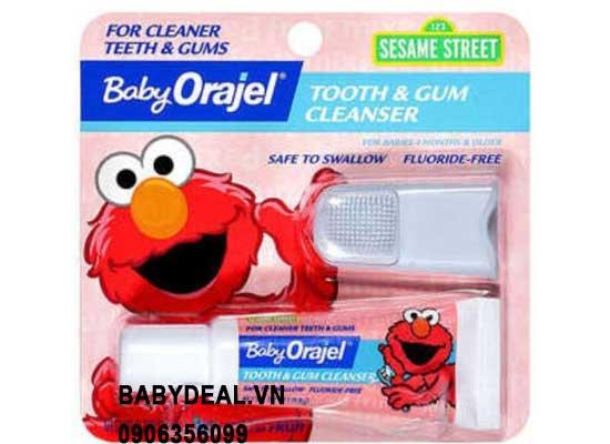Kem Đánh Răng Nuốt Được Kèm Bàn Chải Răng Sữa Orajel cho bé, shop mẹ và bé, giá rẻ tại tp hcm